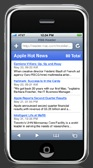 RSS reader on an iPhone