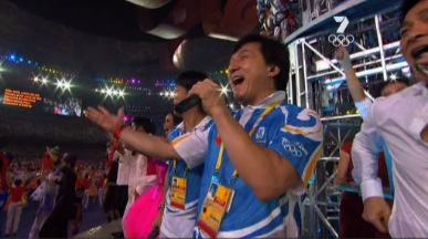 Jackie Chan at the Beijing Olympics Closing Ceremony